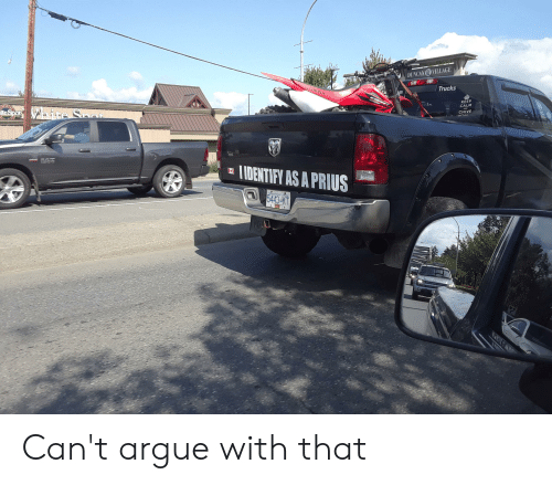 Arguing, Honda, and Tumblr: DUNCAN VILLAGE  HONDA  Trucks  KEEP  CALM  hite Saat  teSpot  CHIVE  IDENTIFY AS A PRIUS  nd Brosh G  5443 KT Can't argue with that