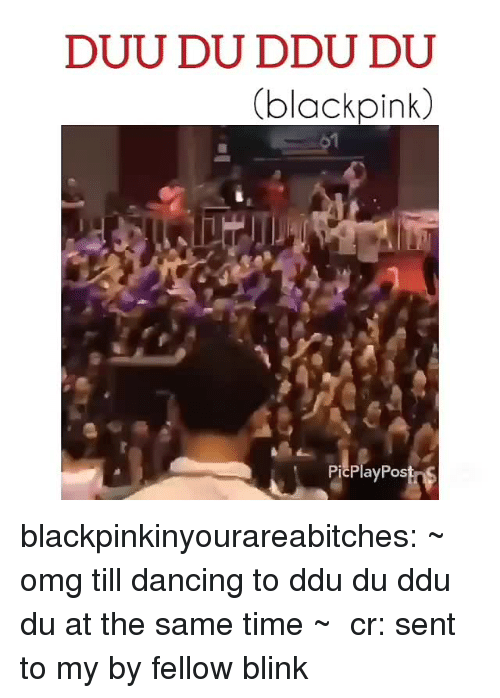 Dancing, Omg, and Tumblr: DUU DU DDU DU  blackpink  PicPlayPos blackpinkinyourareabitches: ~ omg till dancing to ddu du ddu du at the same time ~  cr: sent to my by fellow blink