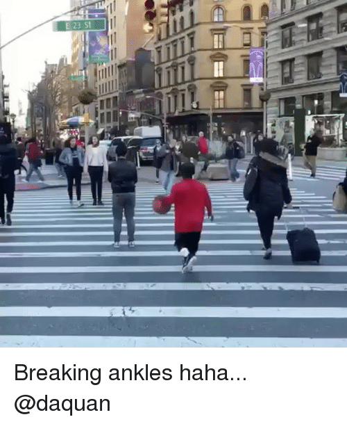 breaking ankles: E 23 St Breaking ankles haha... @daquan