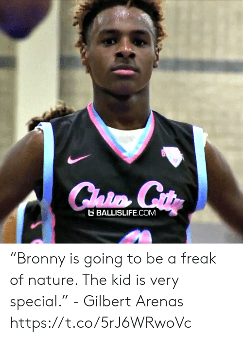 """Memes, Gilbert Arenas, and Nature: E BALLISLIFE COM """"Bronny is going to be a freak of nature. The kid is very special."""" - Gilbert Arenas    https://t.co/5rJ6WRwoVc"""