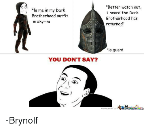 E Me in My Dark Brotherhood Outfit in Skyrim Better Watch