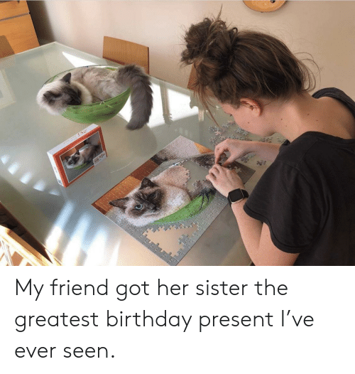 Got Her: E My friend got her sister the greatest birthday present I've ever seen.