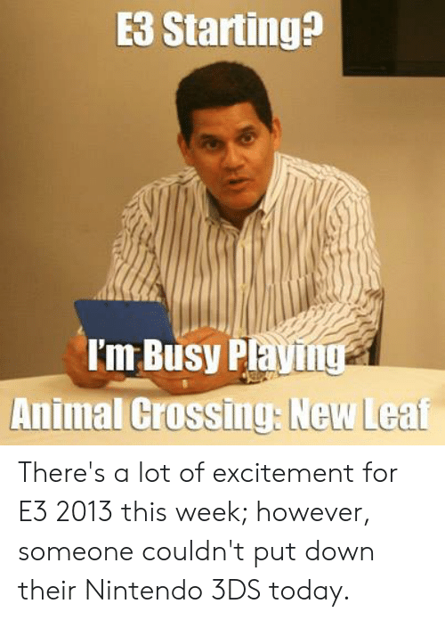 E3 Starting I M Busy Playing Animal Crossing New Leat There S A