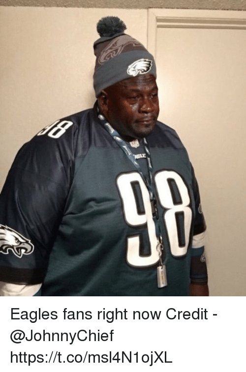 Philadelphia Eagles, Now, and Right Now: Eagles fans right now  Credit - @JohnnyChief https://t.co/msl4N1ojXL
