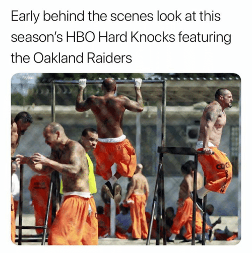Oakland Raiders: Early behind the scenes look at this  season's HBO Hard Knocks featuring  the Oakland Raiders  CDC