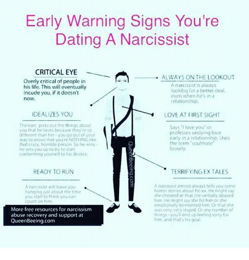 Warning signs in early dating