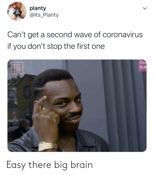 easy: Easy there big brain