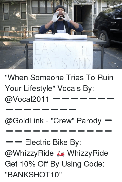 """Biking: EAT STAN """"When Someone Tries To Ruin Your Lifestyle"""" Vocals By: @Vocal2011 ➖➖➖➖➖➖➖➖➖➖➖➖➖➖➖ @GoldLink - """"Crew"""" Parody ➖➖➖➖➖➖➖➖➖➖➖➖➖➖➖ Electric Bike By: @WhizzyRide 🛵 WhizzyRide Get 10% Off By Using Code: """"BANKSHOT10"""""""
