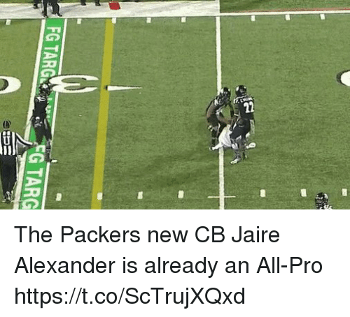Nfl, Packers, and Pro: EG TARGGTARG The Packers new CB Jaire Alexander is already an All-Pro  https://t.co/ScTrujXQxd