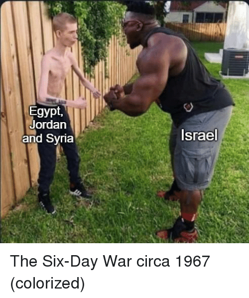 Syria: Egypt,  Jordan  and Syria  Israel The Six-Day War circa 1967 (colorized)