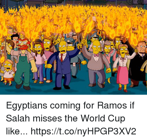 Soccer, World Cup, and World: Egyptians coming for Ramos if Salah misses the World Cup like... https://t.co/nyHPGP3XV2