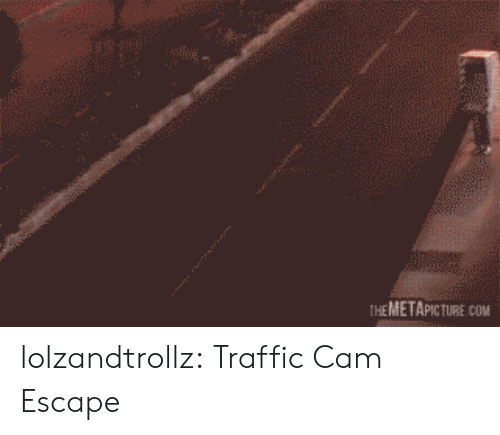 Traffic, Tumblr, and Blog: EHEMETAPICTURE COM lolzandtrollz:  Traffic Cam Escape