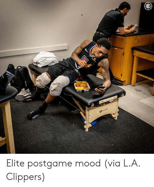 Mood, Clippers, and Via: Elite postgame mood  (via L.A. Clippers)