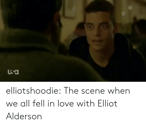 Love, Tumblr, and Blog: elliotshoodie:  The scene when we all fell in love with Elliot Alderson