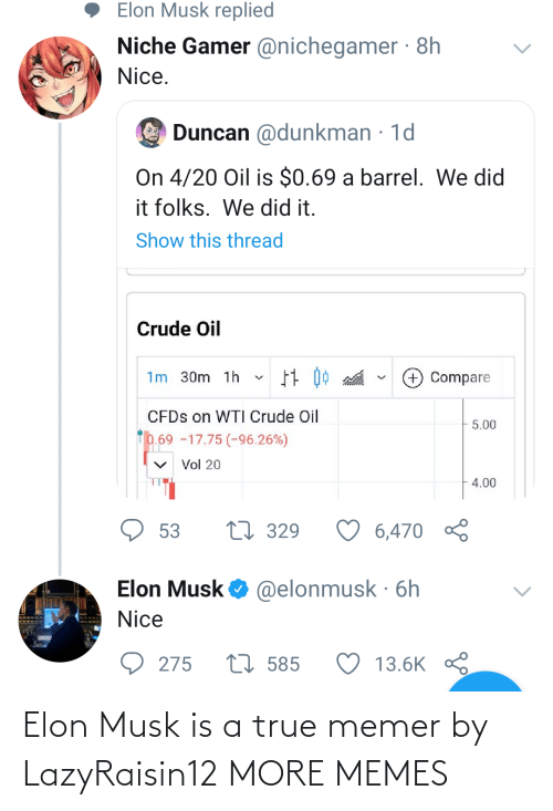 musk: Elon Musk is a true memer by LazyRaisin12 MORE MEMES