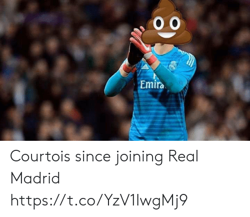 Memes, Real Madrid, and 🤖: Emira Courtois since joining Real Madrid https://t.co/YzV1IwgMj9