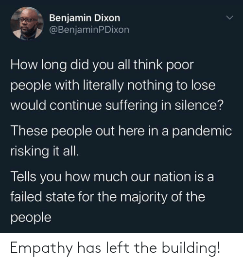 Empathy: Empathy has left the building!