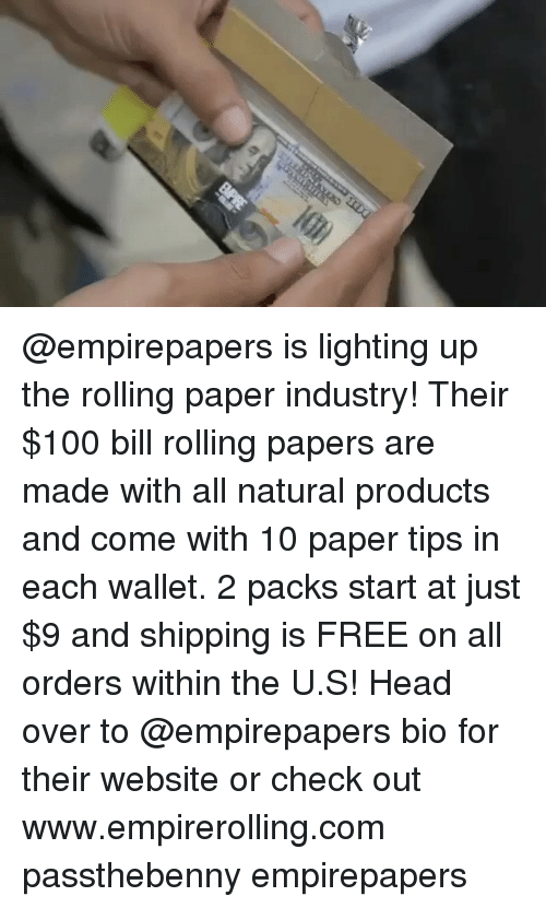 Anaconda, Head, and Weed: @empirepapers is lighting up the rolling paper industry! Their $100 bill rolling papers are made with all natural products and come with 10 paper tips in each wallet. 2 packs start at just $9 and shipping is FREE on all orders within the U.S! Head over to @empirepapers bio for their website or check out www.empirerolling.com passthebenny empirepapers