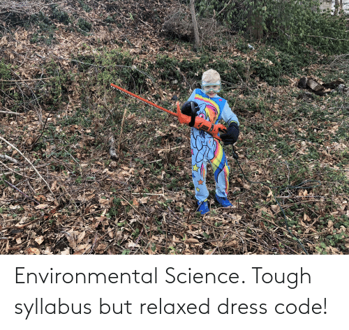 Syllabus: Environmental Science. Tough syllabus but relaxed dress code!