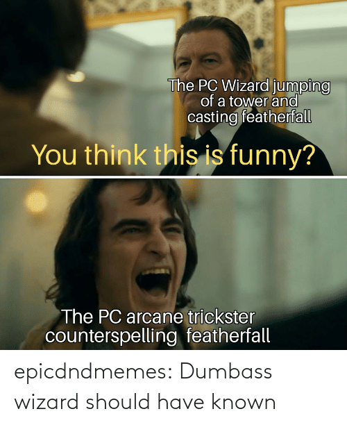 Known: epicdndmemes:  Dumbass wizard should have known