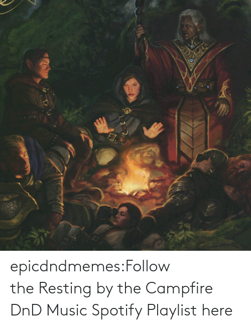Spotify: epicdndmemes:Follow the Resting by the Campfire DnD Music Spotify Playlist here