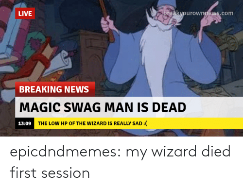 Died: epicdndmemes:  my wizard died first session
