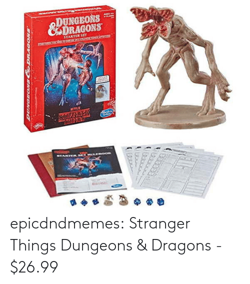 stranger: epicdndmemes:  Stranger Things Dungeons & Dragons -   $26.99