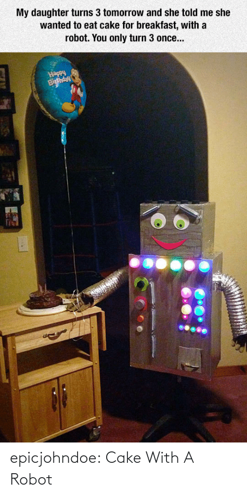 With: epicjohndoe:  Cake With A Robot