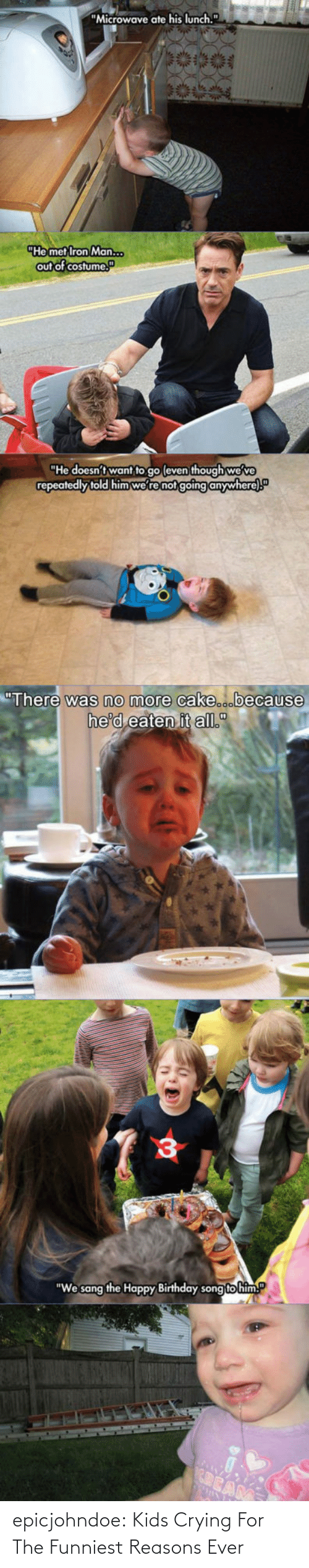 Crying: epicjohndoe:  Kids Crying For The Funniest Reasons Ever