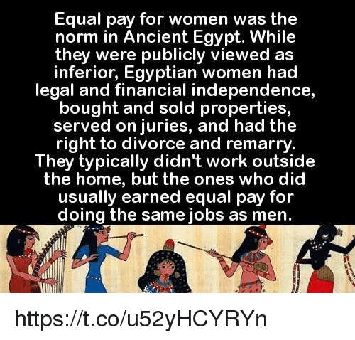 a discussion of the rights that women had in ancient egypt