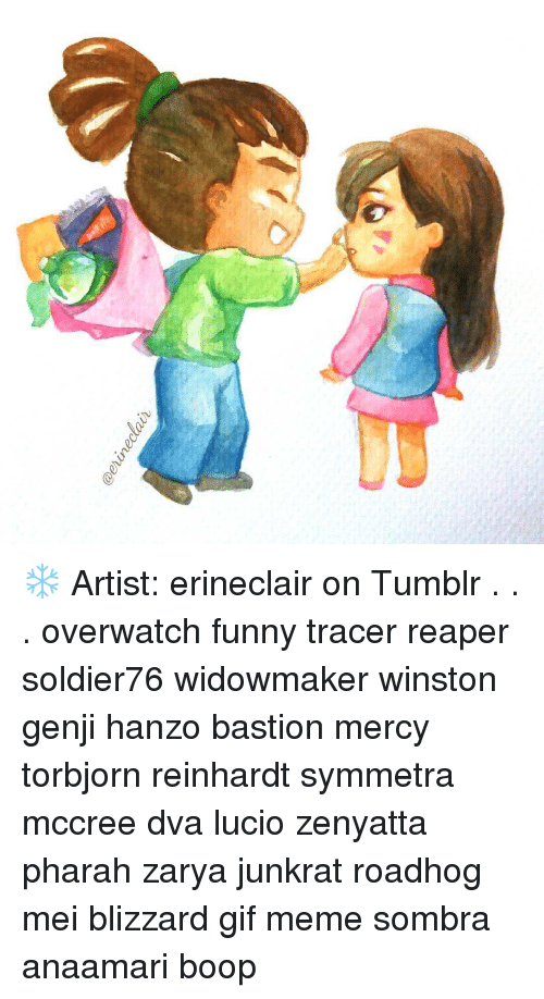 Clair Artist Erineclair On Tumblr Overwatch Funny Tracer Reaper