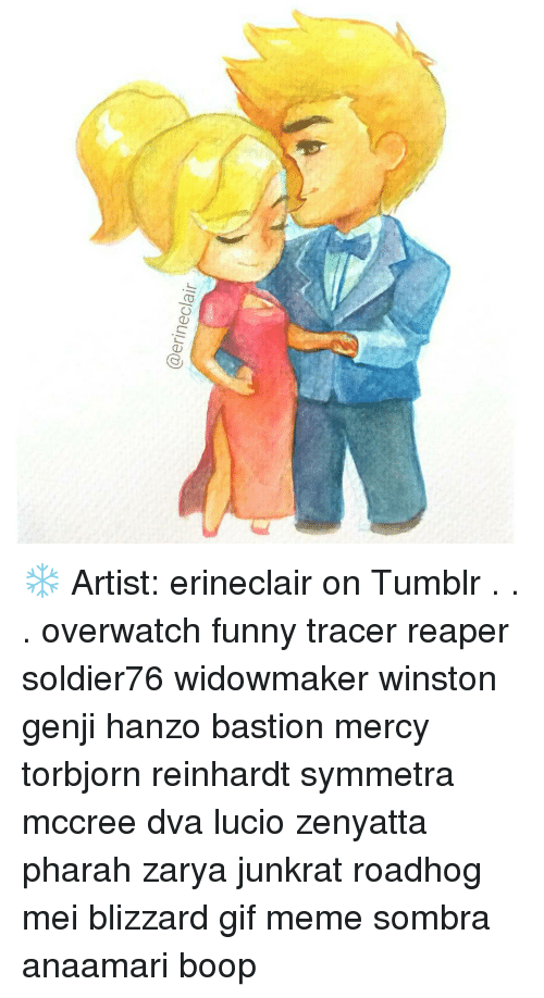 Artist Erineclair On Tumblr Overwatch Funny Tracer Reaper