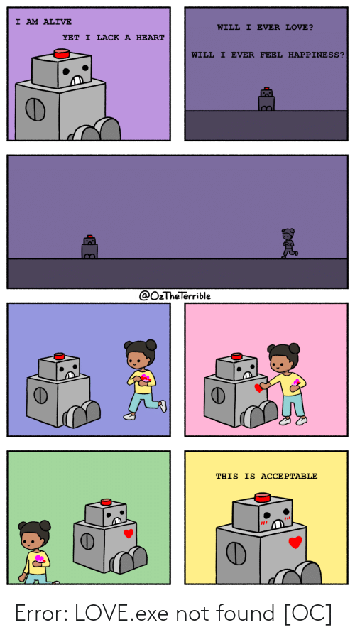 Love, Error, and  Not Found: Error: LOVE.exe not found [OC]