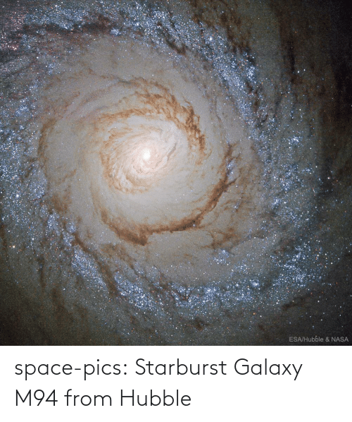 Nasa, Tumblr, and Blog: ESA/Hubble & NASA space-pics:  Starburst Galaxy M94 from Hubble