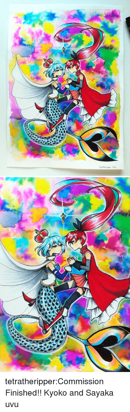 Target, Tumblr, and Blog: etratheripper /4 tetratheripper:Commission Finished!! Kyoko and Sayaka uvu