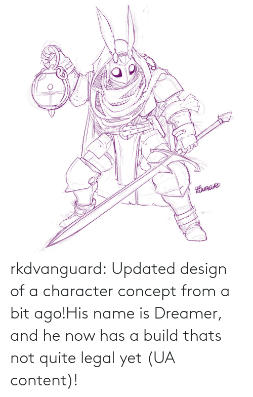 concept: EUANGUARD rkdvanguard:  Updated design of a character concept from a bit ago!His name is Dreamer, and he now has a build thats not quite legal yet (UA content)!
