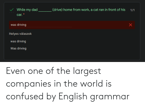 companies: Even one of the largest companies in the world is confused by English grammar