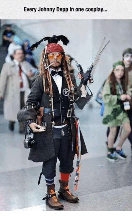 Johnnies: Every Johnny Depp in one cosplay...