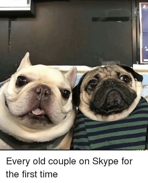 Skype: Every old couple on Skype for the first time