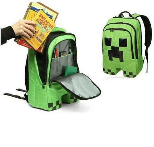 Minecraft, Tumblr, and Blog: every  SNEAKIER  BRAIS  hings novelty-gift-ideas:    Minecraft Creeper Backpack
