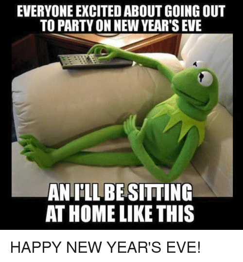 happy new years eve: EVERYONE EXCITEDABOUT GOING OUT  TO PARTYON NEW YEARSEVE  ANLILLBESITTING  AT HOME LIKE THIS HAPPY NEW YEAR'S EVE!