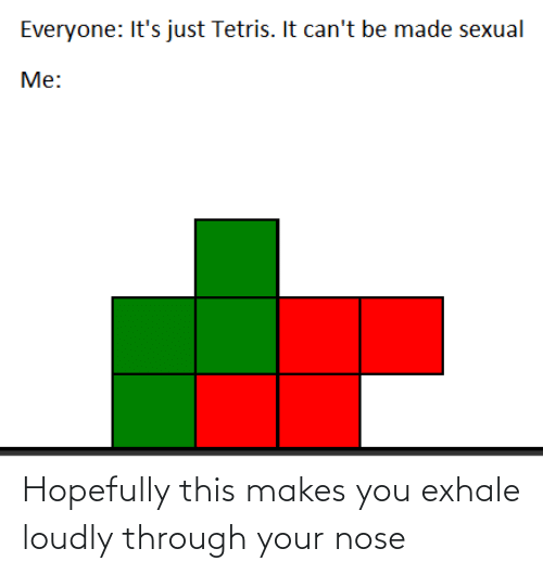 Sexual: Everyone: It's just Tetris. It can't be made sexual  Me: Hopefully this makes you exhale loudly through your nose