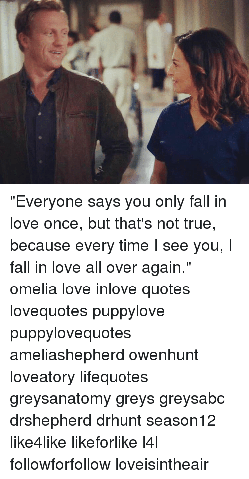 In you love once only fall Do you