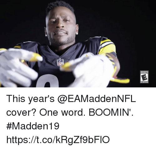 Memes, Word, and 🤖: EVERYONE This year's @EAMaddenNFL cover?  One word. BOOMIN'. #Madden19 https://t.co/kRgZf9bFlO