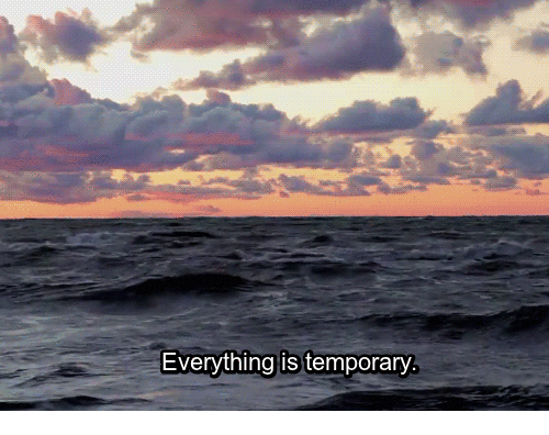 Everything, Temporary, and Everything Is Temporary: Everything is temporary
