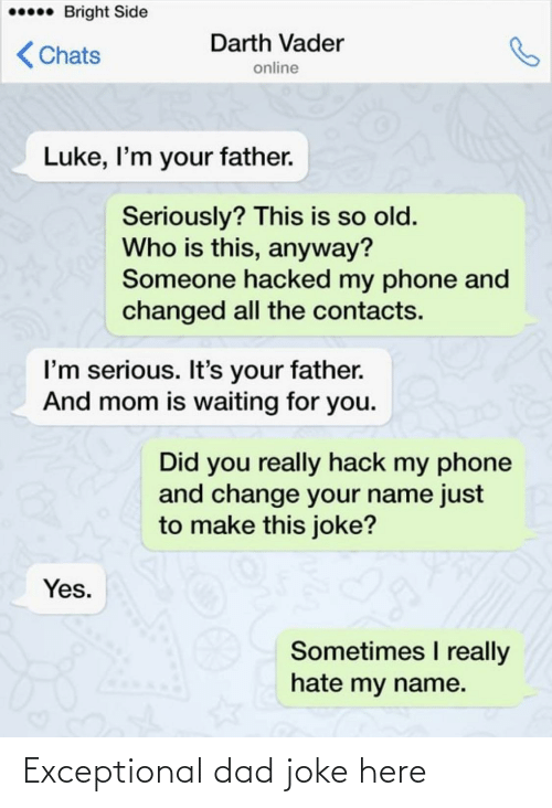exceptional: Exceptional dad joke here