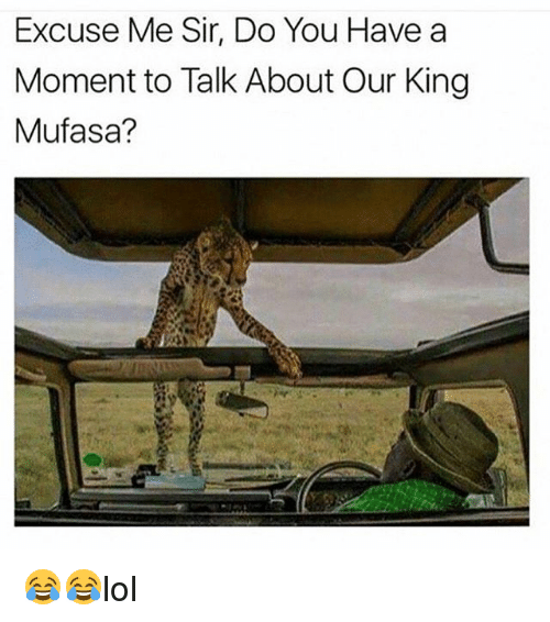 momentous: Excuse Me Sir, Do You Have a  Moment to Talk About Our King  Mufasa? 😂😂lol