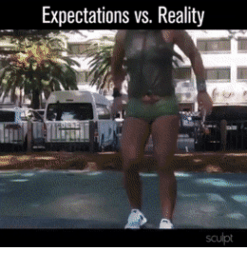 Vs Reality: Expectations vs. Reality  sculpt I'm definitely a realist…