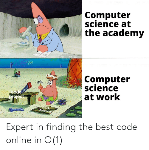online: Expert in finding the best code online in O(1)