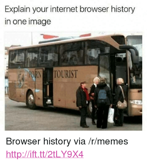 """Internet, Memes, and History: Explain your internet browser history  in one image <p>Browser history via /r/memes <a href=""""http://ift.tt/2tLY9X4"""">http://ift.tt/2tLY9X4</a></p>"""